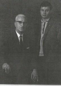 Ο Νικόλαος Ανδριώτης με τον γιό του Παντελή το 1965