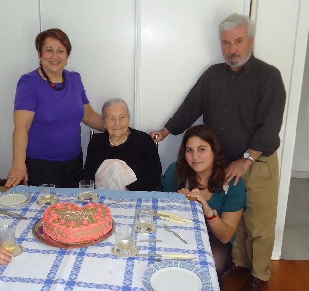 23/3/2012 - Με την οικογένειά της